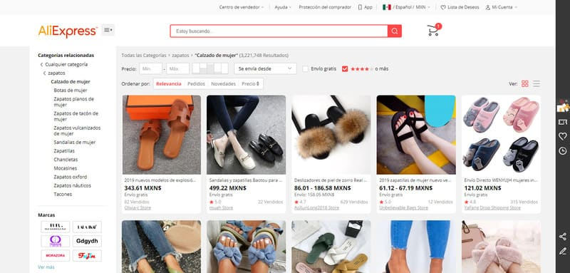 comprar zapatos en china aliexpress