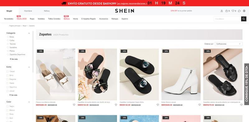 comprar zapatos de mujer en china