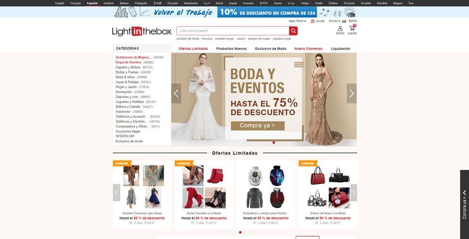 LightInTheBox tienda online china para comprar desde mexico