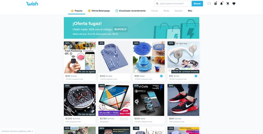 comprar en wish es divertido