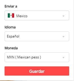 aliexpress en pesos mexicanos y en español